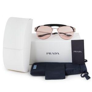 PRADA PR53US Pink & Silver Aviator Sunglasses